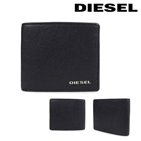 ディーゼル 財布 メンズ DIESEL 二つ折り財布 FRESH STARTER HIRESH S X04459 PR227 H6586 ブラック [2/26 新入荷]