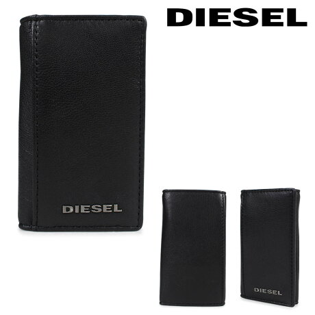 ディーゼル DIESEL キーケース キーホルダー メンズ 6連 レザー FRESH STARTER KEYCASE O X04462 PR227 H5644 ブラック [3/6 再入荷]