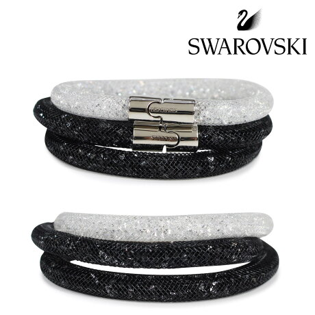 SWAROVSKI スワロフスキー ブレスレット 2本セット レディース STARDUST ブラック ホワイト 5185000 S [3/19 新入荷]