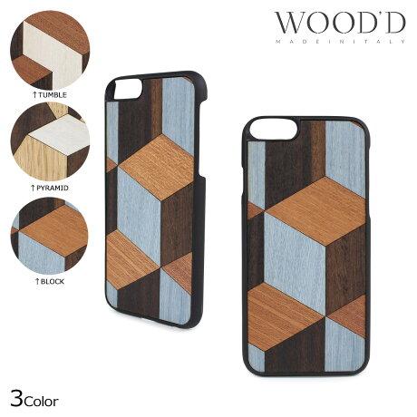 Wood'd ウッド iPhone8 iPhone7 6s ケース スマホ アイフォン GEOMETRIC 木製 メンズ レディース [3/22 新入荷]