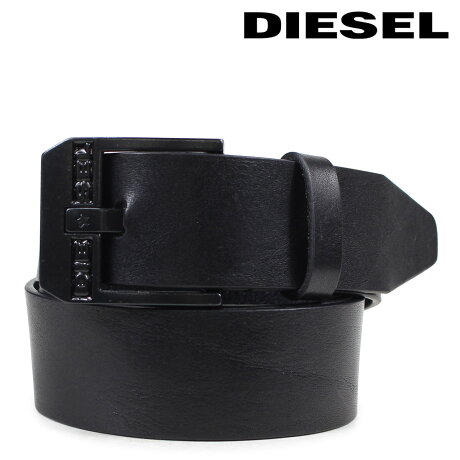 DIESEL ベルト ディーゼル メンズ レザーベルト 牛革 ロゴ入り カジュアル BLUESTAR ブラック X03728 PR227 H5902 [3/23 新入荷]