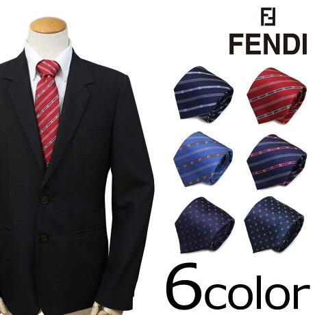 FENDI フェンディ ネクタイ シルク イタリア製 ビジネス 結婚式 メンズ [6/7 追加入荷]