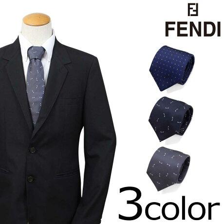 FENDI フェンディ ネクタイ シルク イタリア製 ビジネス 結婚式 メンズ [3/19 新入荷]