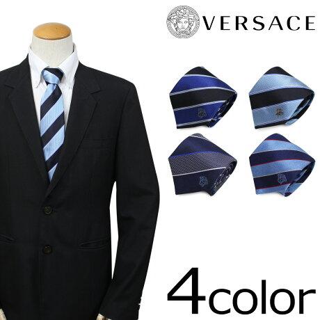 VERSACE ベルサーチ ネクタイ シルク ヴェルサーチ メンズ ギフト ケース付 イタリア製 ビジネス 結婚式 [3/20 新入荷]