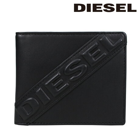 ディーゼル 財布 メンズ DIESEL 二つ折り財布 DESELXX HIRESH S X05368 PR160 T8013 ブラック [5/15 追加入荷]