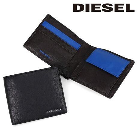 DIESEL 財布 メンズ ディーゼル 二つ折り財布 FRESH STARTER HIRESH S X04459 PR227 ブラック ブラウン [6/7 追加入荷]