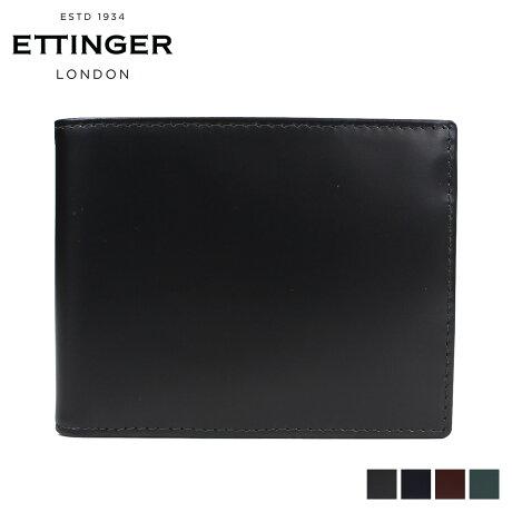 エッティンガー ETTINGER 財布 二つ折り メンズ BRIDLE BILLFOLD WITH 3 C/C & PURSE ブラック ネイビー ブラウン BH141JR