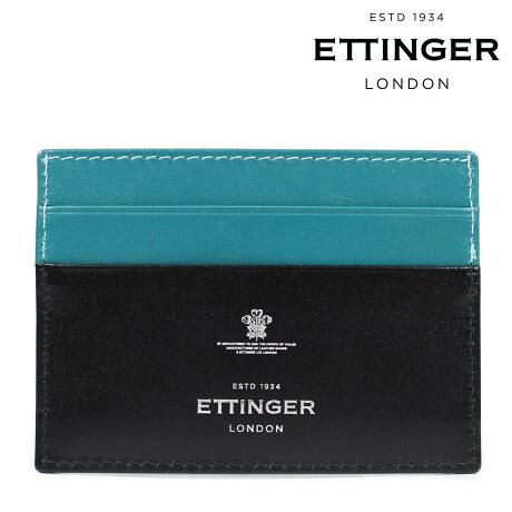 ETTINGER エッティンガー 名刺入れ カードケース メンズ STERLING FLAT CREDIT CARD CASE ブラック ST248JR [5/24 新入荷]