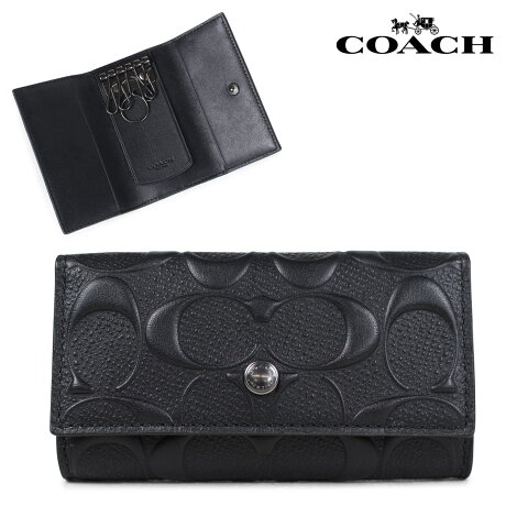 COACH コーチ キーケース キーホルダー メンズ レザー ブラック F26105 [5/11 新入荷]