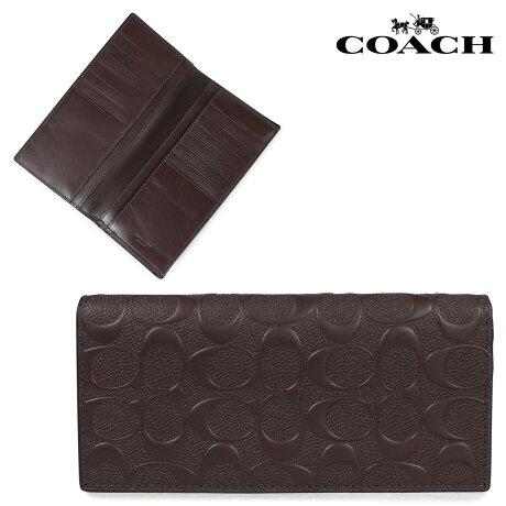 COACH コーチ 財布 長財布 メンズ レザー シグネチャー ブラウン F75365 [5/11 新入荷]