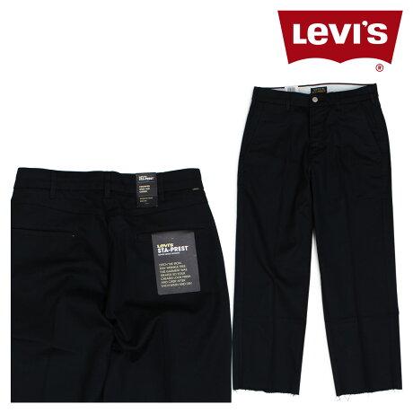 リーバイス LEVI'S スタプレ メンズ ワイド パンツ STA-PREST WIDE LEG CROP ブラック 47873-0003 [6/16 追加入荷]