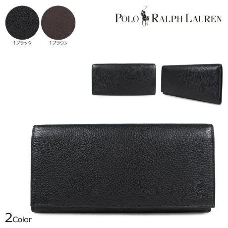 ポロ ラルフローレン 財布 メンズ POLO RALPH LAUREN 長財布 ブラック ブラウン 405526201 [7/3 追加入荷]