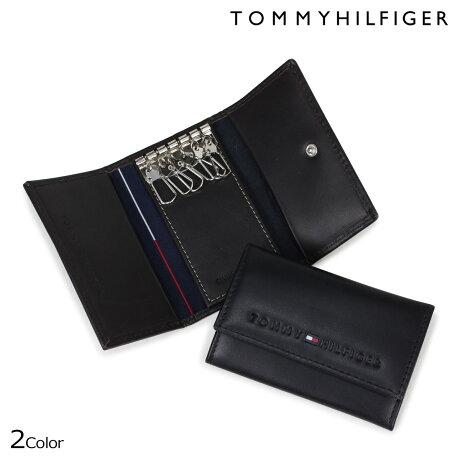 TOMMY HILFIGER キーケース トミーヒルフィガー メンズ 6連 レザー KEYCASE 96-4512 31TL17X005 ブラック ブラウン [5/2 新入荷]