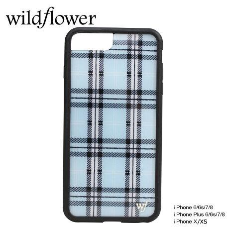 wildflower ケース スマホ iPhone8 X ワイルドフラワー iPhone ケース 7 6s 6 アイフォン レディース ハンドメイド ブルー [5/14 新入荷] 【ネコポス可】