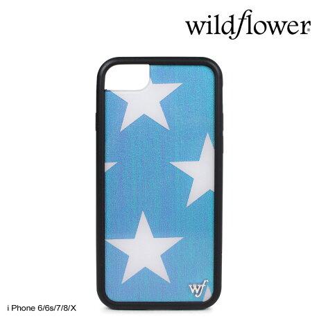 wildflower ケース スマホ iPhone8 X ワイルドフラワー iPhone ケース 7 6s 6 アイフォン レディース ハンドメイド ブルー [5/14 新入荷]