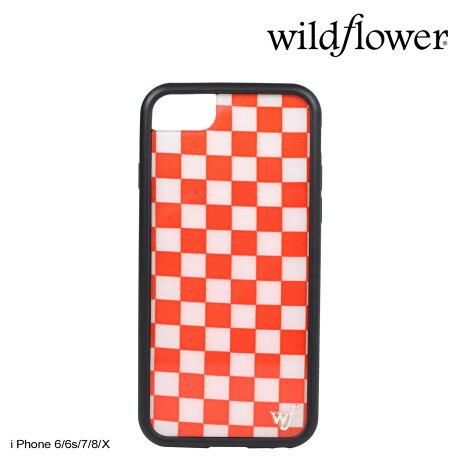 wildflower ケース スマホ iPhone8 X ワイルドフラワー iPhone ケース 7 6s 6 アイフォン レディース ハンドメイド レッド [5/14 新入荷]