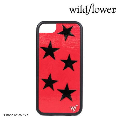 wildflower ケース スマホ iPhone8 X ワイルドフラワー iPhone ケース 7 6s 6 アイフォン レディース ハンドメイド レッド [5/14 新入荷] 【ネコポス可】