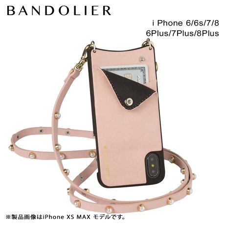 BANDOLIER バンドリヤー iPhone8 iPhone7 7Plus 6s ケース スマホ アイフォン プラス CLAIRE PINK メンズ レディース [6/1 新入荷]