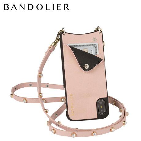 BANDOLIER バンドリヤー iPhoneX ケース スマホ アイフォン CLAIRE PINK レザー メンズ レディース [6/1 新入荷]