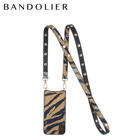 BANDOLIER バンドリヤー iPhoneX ケース スマホ アイフォン ROMY GOLD DENIM レザー メンズ レディース [6/1 新入荷]