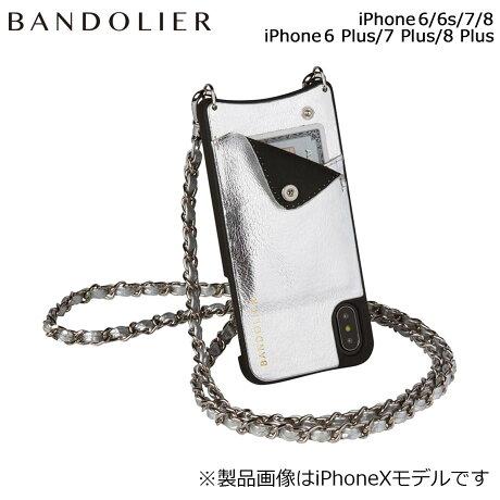BANDOLIER バンドリヤー iPhone8 iPhone7 7Plus 6s ケース スマホ アイフォン プラス LUCY METALLIC SILVER メンズ レディース [6/1 新入荷]
