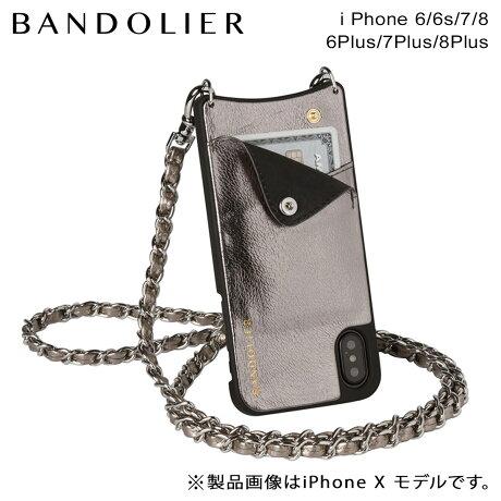 BANDOLIER バンドリヤー iPhone8 iPhone7 7Plus 6s ケース スマホ アイフォン プラス LUCY METALLIC ASH メンズ レディース [6/1 新入荷]