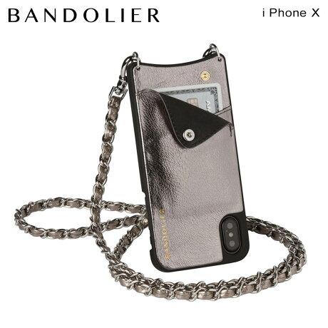 BANDOLIER バンドリヤー iPhoneX ケース スマホ アイフォン LUCY METALLIC ASH レザー メンズ レディース [6/1 新入荷]