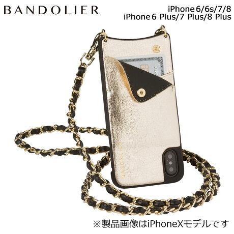 BANDOLIER バンドリヤー iPhone8 iPhone7 7Plus 6s ケース スマホ アイフォン プラス LUCY METALLIC GOLD メンズ レディース [6/1 新入荷]