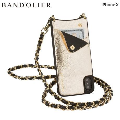BANDOLIER バンドリヤー iPhoneX ケース スマホ アイフォン LUCY METALLIC GOLD レザー メンズ レディース [6/1 新入荷]