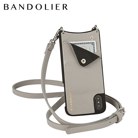 BANDOLIER バンドリヤー iPhoneX ケース スマホ アイフォン EMMA LIGHT GREY レザー メンズ レディース [6/1 新入荷]