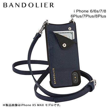 バンドリヤー BANDOLIER iPhone8 iPhone7 7Plus 6s ケース スマホ アイフォン プラス EMMA NAVY メンズ レディース [6/1 新入荷]
