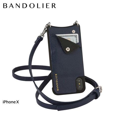 BANDOLIER バンドリヤー iPhoneX ケース スマホ アイフォン EMMA NAVY レザー メンズ レディース [6/1 新入荷]