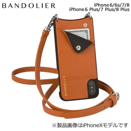 BANDOLIER バンドリヤー iPhone8 iPhone7 7Plus 6s ケース スマホ アイフォン プラス EMMA COGNAC メンズ レディース [6/1 新入荷]