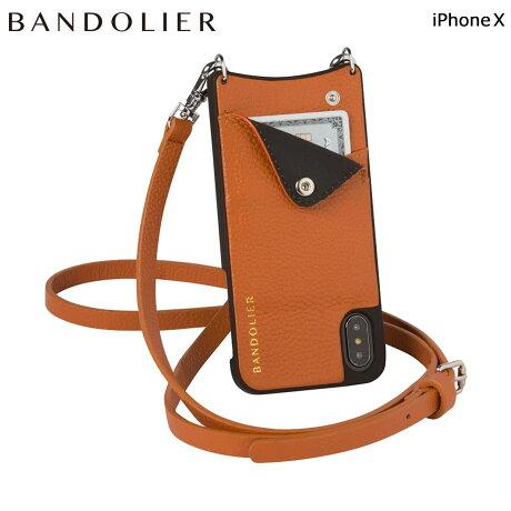 BANDOLIER バンドリヤー iPhoneX ケース スマホ アイフォン EMMA COGNAC レザー メンズ レディース [6/1 新入荷]