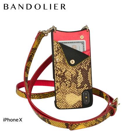 BANDOLIER バンドリヤー iPhoneX ケース スマホ アイフォン EMMA YELLOW SNAKE レザー メンズ レディース [6/1 新入荷]