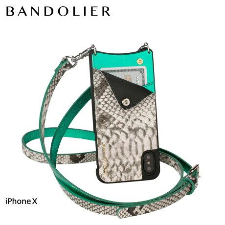 BANDOLIER バンドリヤー iPhoneX ケース スマホ アイフォン EMMA WHITE SNAKE レザー メンズ レディース [6/1 新入荷]