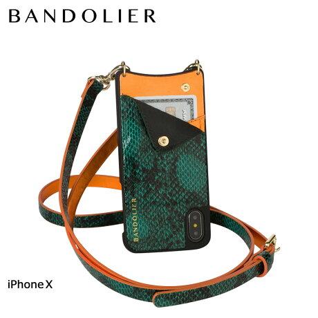 BANDOLIER バンドリヤー iPhoneX ケース スマホ アイフォン EMMA GREEN SNAKE レザー メンズ レディース [6/1 新入荷]