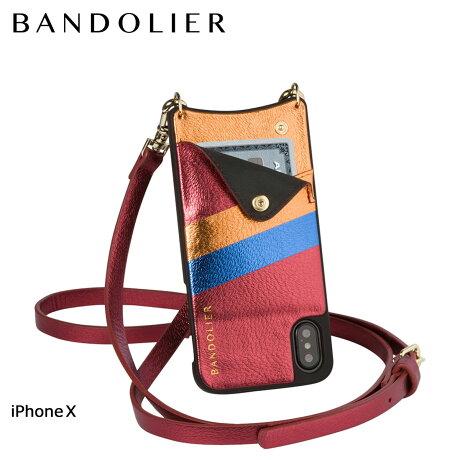 BANDOLIER バンドリヤー iPhoneX ケース スマホ アイフォン EMMA RED RAINBOW レザー メンズ レディース [6/1 新入荷]