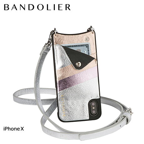 BANDOLIER バンドリヤー iPhoneX ケース スマホ アイフォン EMMA SILVER RAINBOW レザー メンズ レディース [6/1 新入荷]