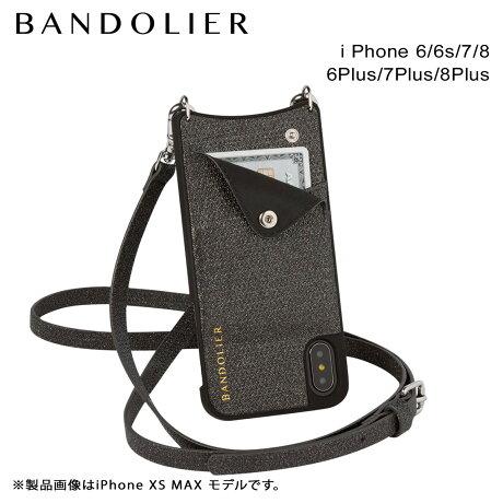 BANDOLIER バンドリヤー iPhone8 iPhone7 7Plus 6s ケース スマホ アイフォン プラス EMMA BLACK SPARKLE メンズ レディース [6/1 新入荷]