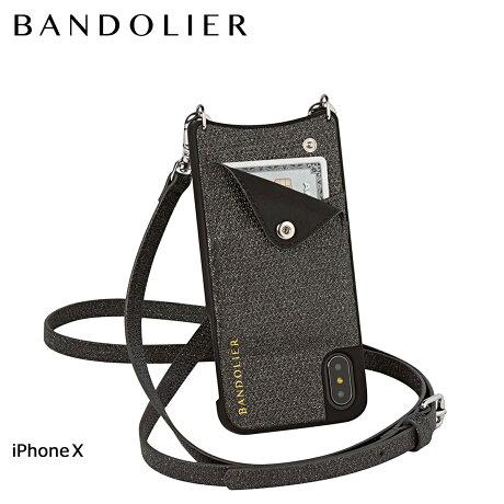 BANDOLIER バンドリヤー iPhoneX ケース スマホ アイフォン EMMA BLACK SPARKLE レザー メンズ レディース [6/1 新入荷]