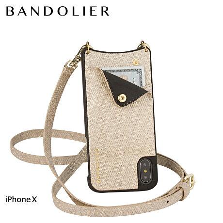 BANDOLIER バンドリヤー iPhoneX ケース スマホ アイフォン EMMA GOLD SPARKLE レザー メンズ レディース [6/1 新入荷]