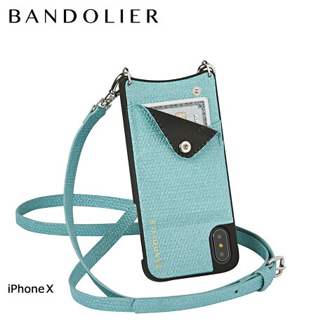 BANDOLIER バンドリヤー iPhoneX ケース スマホ アイフォン EMMA GREEN SPARKLE レザー メンズ レディース [6/1 新入荷]