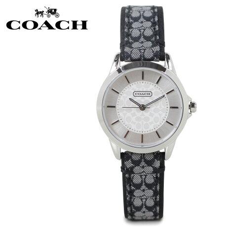 COACH コーチ 腕時計 レディース シグネチャー レザー ブラック 14501524 [5/22 新入荷]