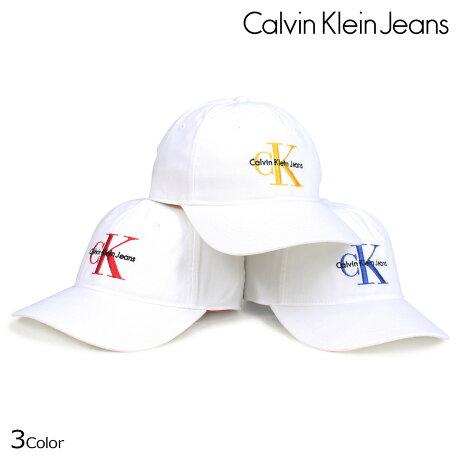 Calvin Klein Jeans カルバンクライン ジーンズ キャップ 帽子 メンズ レディース BASEBALL DAD CAP ホワイト 41HH911 [5/25 新入荷]