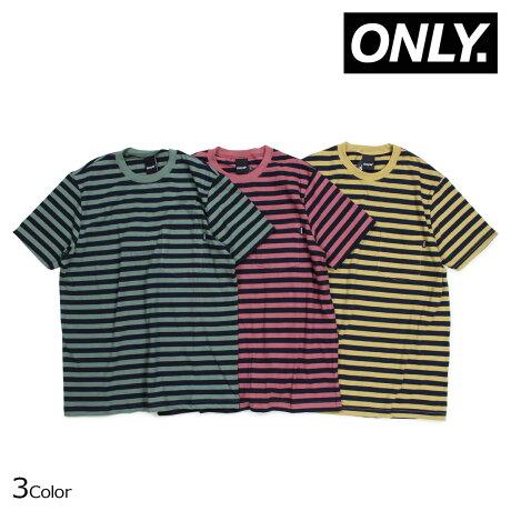 ONLY NY オンリーニューヨーク Tシャツ メンズ 半袖 ボーダー NAUTICAL STRIPE POCKET T-SHIRTS レッド グリーン イエロー [5/30 新入荷]