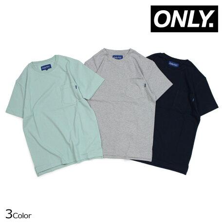 ONLY NY オンリーニューヨーク Tシャツ メンズ 半袖 PREMIUM COTTON PIQUE T-SHIRTS グレー ネイビー ライトブルー [5/30 新入荷]
