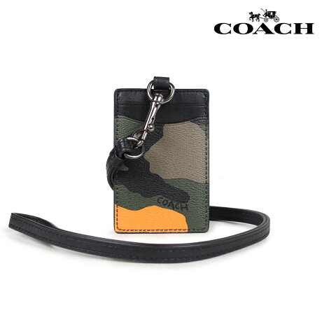 コーチ COACH パスケース 定期入れ メンズ レザー オレンジカモ F30283 [7/10 新入荷]