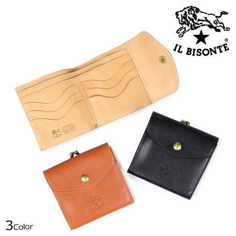 IL BISONTE イルビゾンテ 財布 三つ折り メンズ レディース STANDARD ブラック ベージュ ブラウン C0423 P [6/6 新入荷]