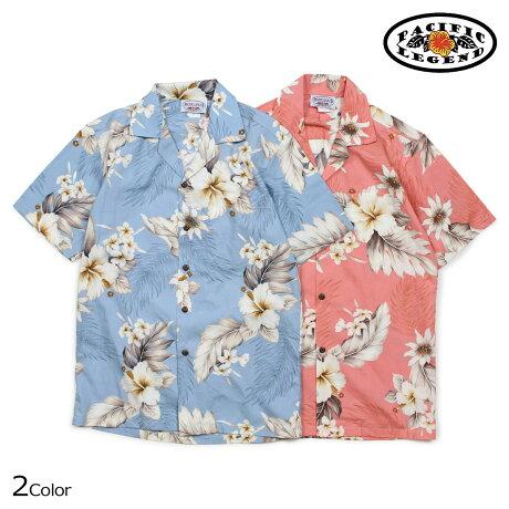 パシフィック レジェンド Pacific legend アロハシャツ メンズ ハワイ製 HAWAIIAN SHIRTS ブラック オレンジ 410-3162 [予約商品 6/30頃入荷予定 新入荷]